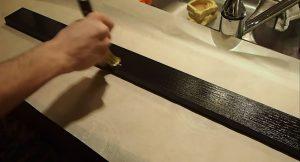 Sealing the wood with Minwax Polyurethane