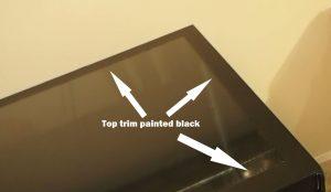 Top Trim painted black