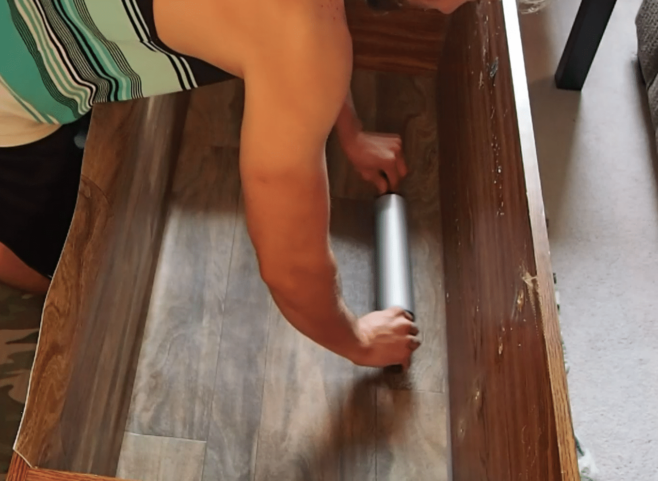 Pressing down floor